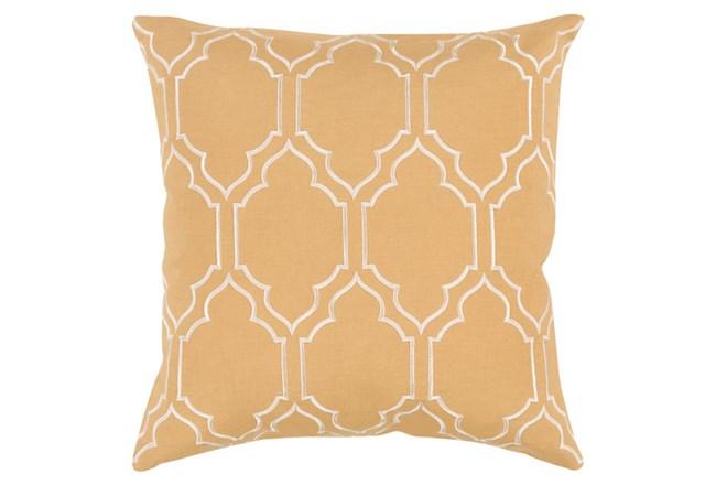 Accent Pillow-Norinne Geo Gold/Beige 18X18 - 360