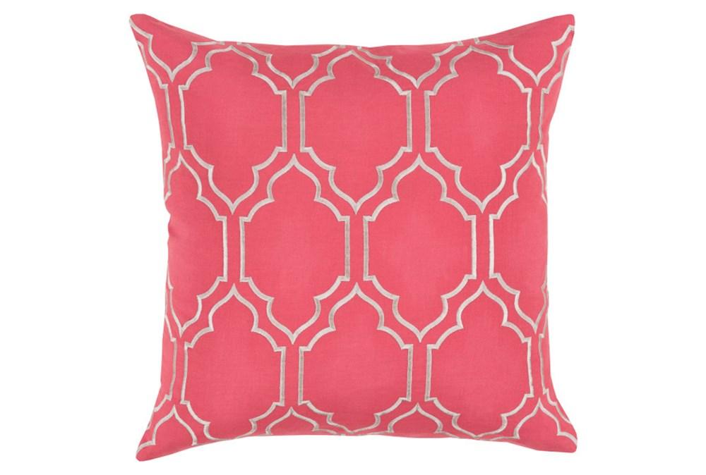 Accent Pillow-Norinne Geo Carnation/Light Grey 18X18
