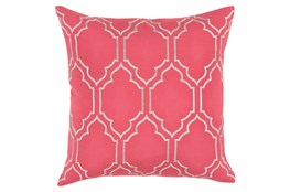 Accent Pillow-Norinne Geo Carnation/Light Grey 18X18
