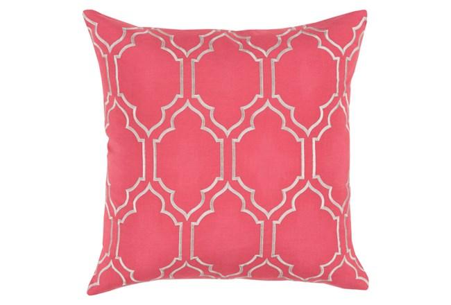 Accent Pillow-Norinne Geo Carnation/Light Grey 18X18 - 360