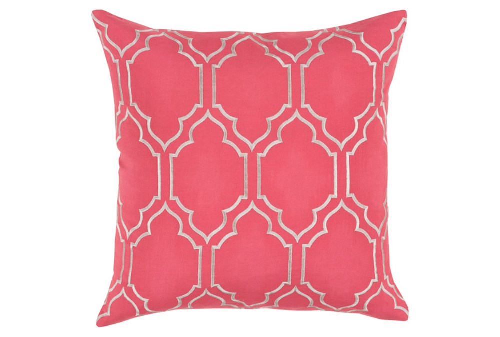 Accent Pillow-Norinne Geo Carnation/Light Grey 20X20