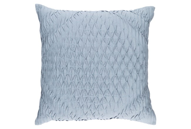 Accent Pillow-Annette Solid Blue 18X18 - 360