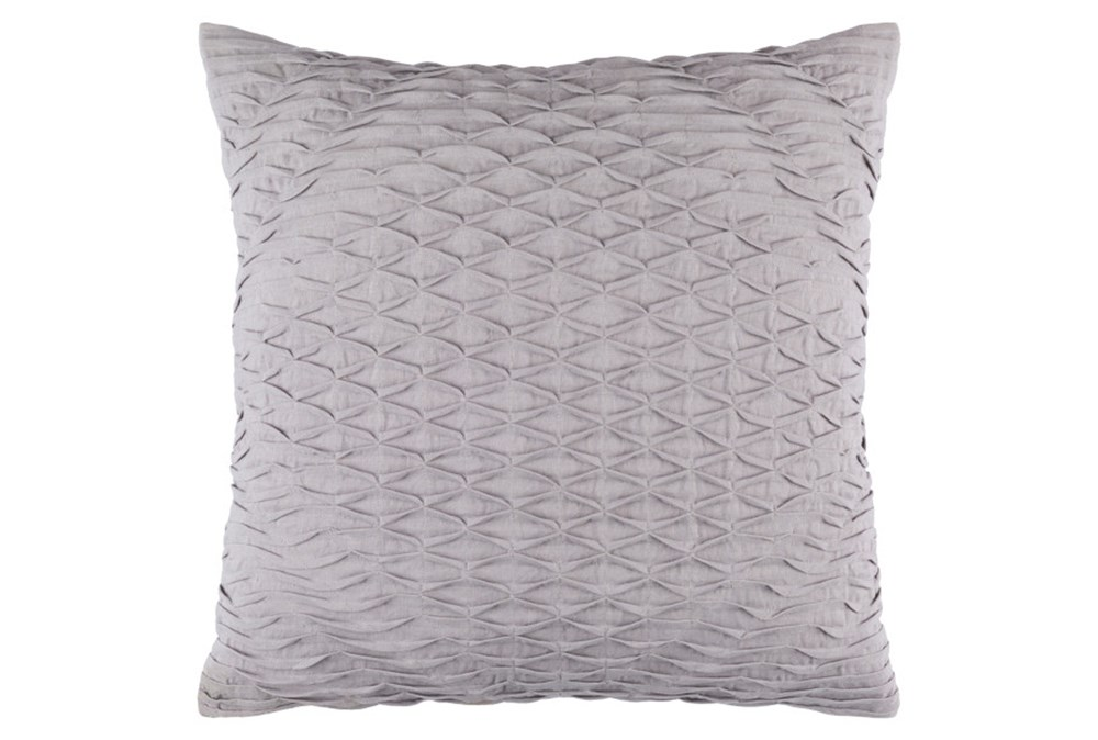 Accent Pillow-Annette Solid Slate 18X18