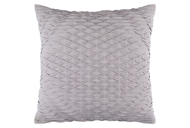 Accent Pillow-Annette Solid Slate 18X18 - 360