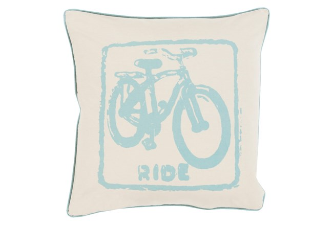 Accent Pillow-Ride Moss/Beige 18X18 - 360
