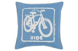 Accent Pillow-Ride Cobalt/Beige 20X20