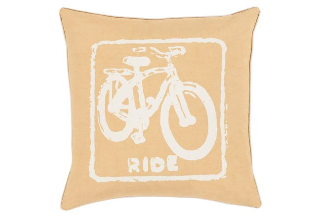 Accent Pillow-Ride Gold/Ivory 20X20 - 360