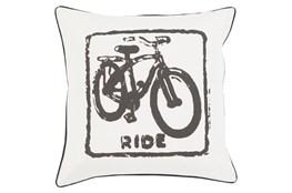 Accent Pillow-Ride Black/Light Grey 18X18
