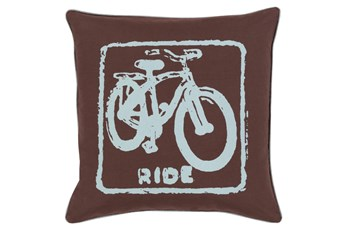 Accent Pillow-Ride Black/Slate 18X18