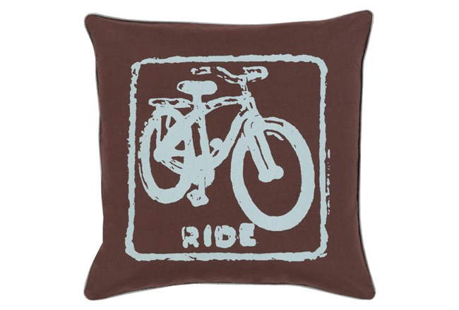 Accent Pillow-Ride Black/Slate 18X18 - 360