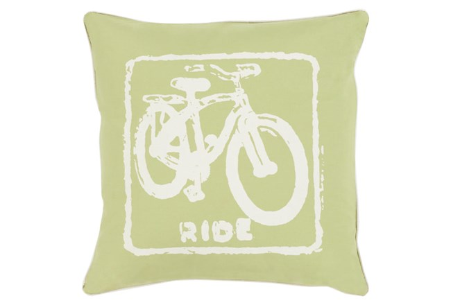 Accent Pillow-Ride Lime/Ivory 20X20 - 360