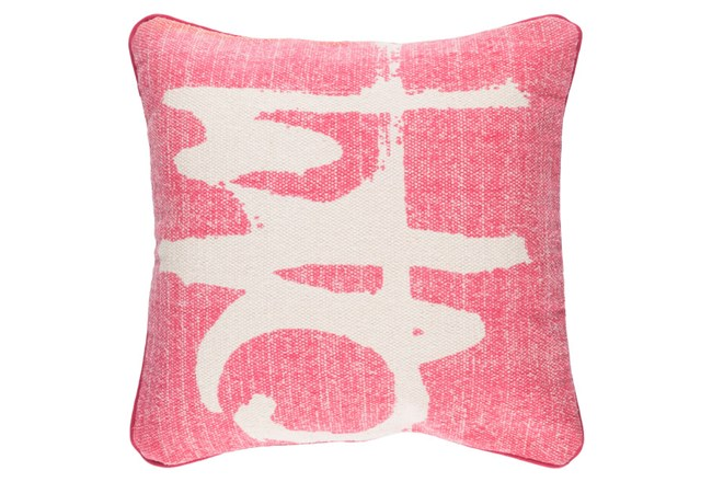 Accent Pillow-Amos Abstract Light Grey/Pink 20X20 - 360