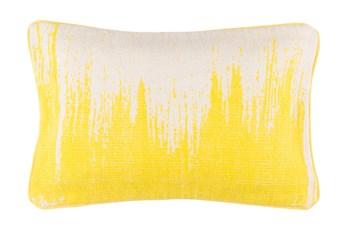 Accent Pillow-Nas Abstract Light Grey/Lemon 14X22