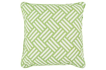 Accent Pillow-Crossweave Geo Lime/Ivory 20X20