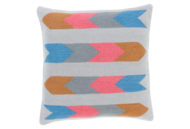 Accent Pillow-Arrow Abstract Grey Multi 18X18 - 360