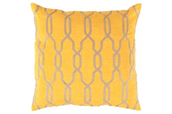 Accent Pillow-Chains Geo Yellow 22X22