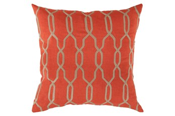 Accent Pillow-Chains Geo Poppy 18X18