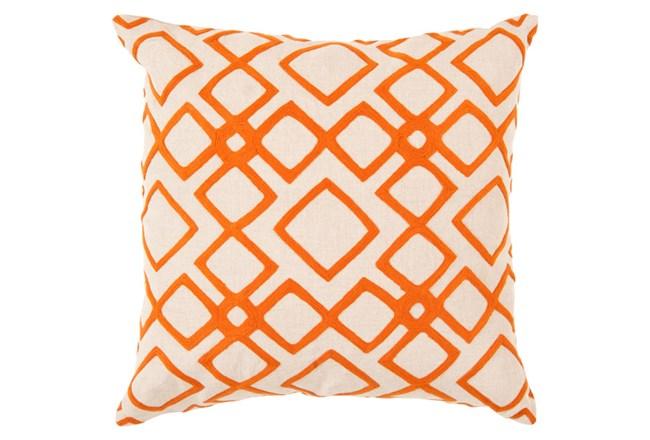 Accent Pillow-Blocks Geo Ivory/Orange 18X18 - 360