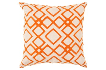 Accent Pillow-Blocks Geo Ivory/Orange 22X22