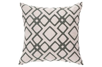 Accent Pillow-Blocks Geo Ivory/Charcoal 22X22