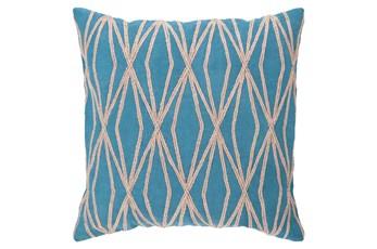 Accent Pillow-Twines Geo Aqua/Beige 18X18