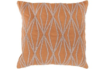 Accent Pillow-Twines Geo Orange/Beige 18X18