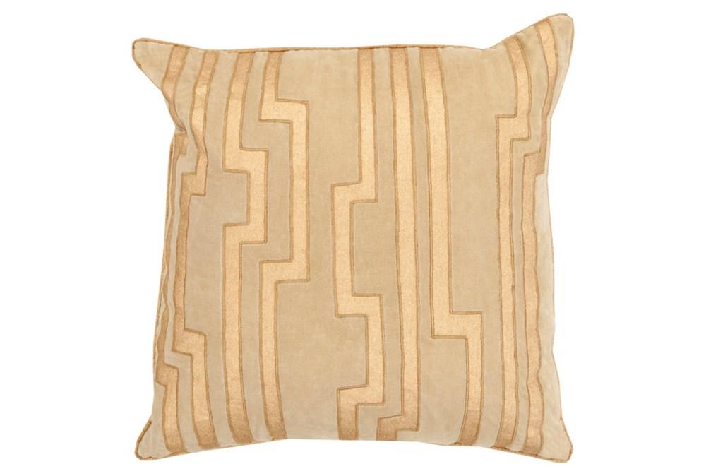 Accent Pillow-Avion Geo Gold 18X18