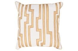 Accent Pillow-Avion Geo Ivory/Gold 18X18