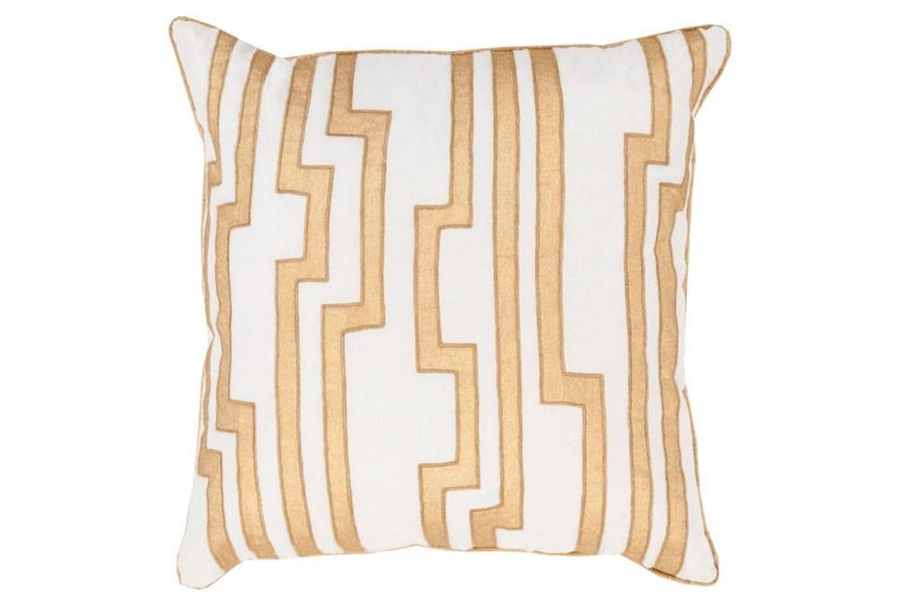 Accent Pillow-Avion Geo Ivory/Gold 20X20
