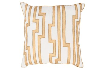 Accent Pillow-Avion Geo Ivory/Gold 20X20