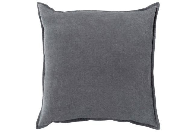 Accent Pillow-Beckley Solid Charcoal 18X18 - 360