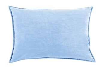 Accent Pillow-Beckley Solid Sky Blue 13X19
