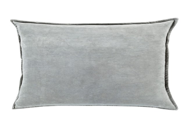 Accent Pillow-Beckley Solid Light Grey 13X19 - 360