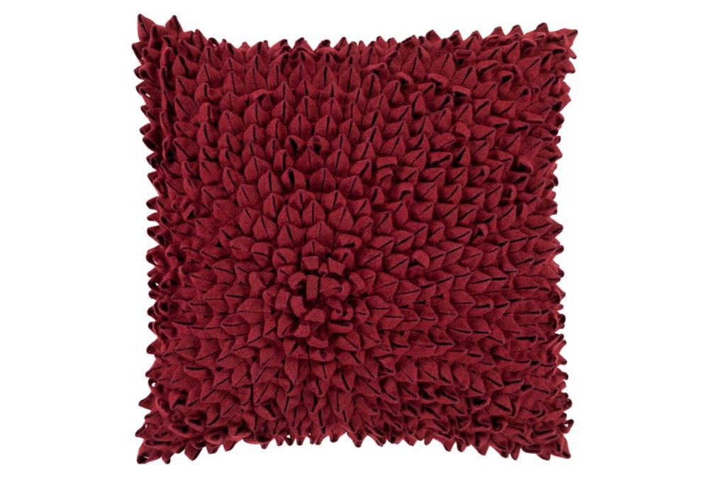 Accent Pillow-Daisy Burgundy 20X20