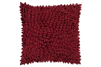 Accent Pillow-Daisy Burgundy 22X22
