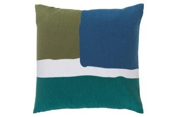Accent Pillow-Stevens Blue Multi 20X20