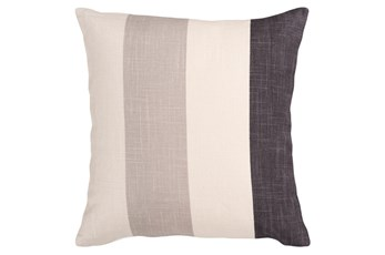 Accent Pillow-Maisie Black/Grey Stripe 18X18