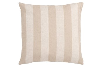 Accent Pillow-Maisie Beige/Cream Stripe 18X18