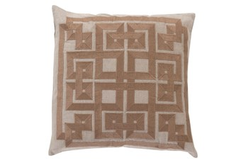 Accent Pillow-Trina Beige/Brown 22X22
