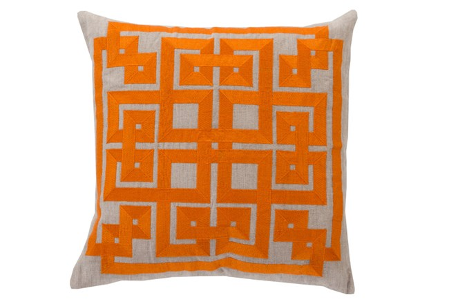 Accent Pillow-Trina Beige/Orange 20X20 - 360