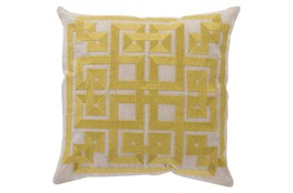 Accent Pillow-Trina Beige/Lime 22X22