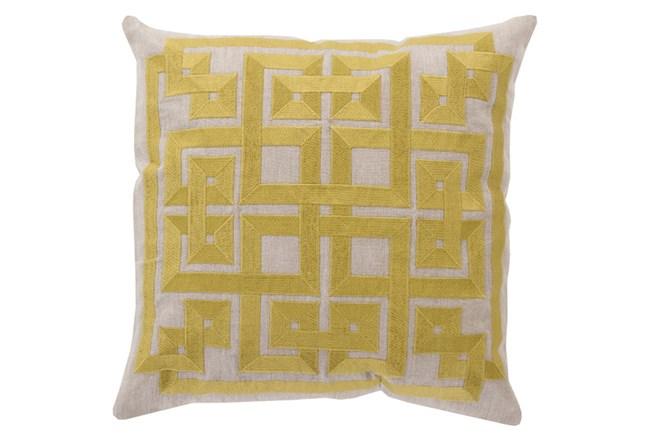 Accent Pillow-Trina Beige/Lime 22X22 - 360