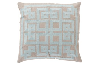 Accent Pillow-Trina Beige/Grey 22X22