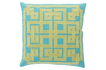 Accent Pillow-Trina Aqua/Lime 22X22