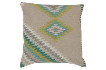 Accent Pillow-Azteca Beige Multi 22X22