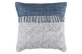 Accent Pillow-Tori Denim Fringe 20X20