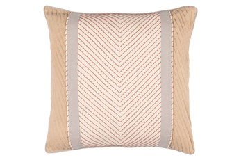 Accent Pillow-Polly Tan Stripe 18X18