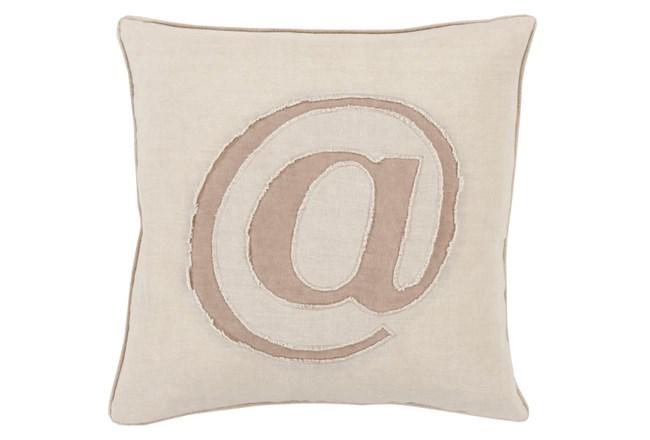 Accent Pillow-Atmark Khaki 18X18 - 360