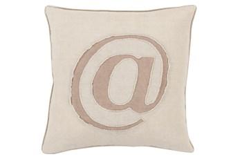 Accent Pillow-Atmark Khaki 20X20