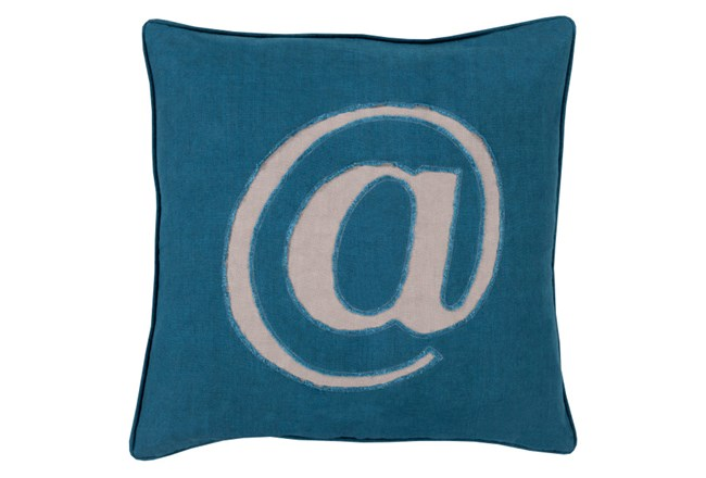 Accent Pillow-Atmark Navy 18X18 - 360